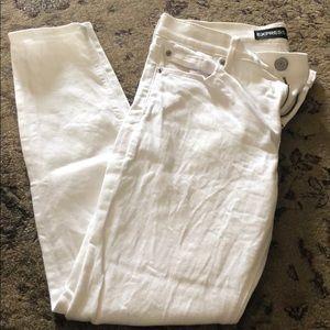 Express White Mid Rise Skinny Legging Jeans